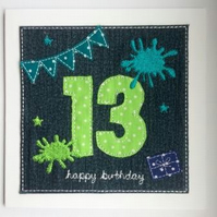 13th - Age 13 Birthday Card