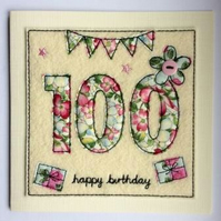 100th - Age 100 Happy Birthday Card