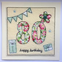 80th - Age 80 Happy Birthday Card