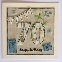 70th - Age 70 Happy Birthday Card