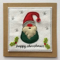 Christmas Gnome Card - Green