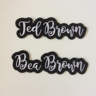 8 Letter Sew On Name Patch - Made to Order