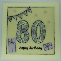 80th - Age 80 Birthday Card