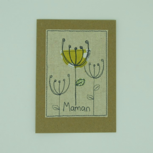 Maman card - Poppy Seed Heads - OR Mom, Momma, Mommy
