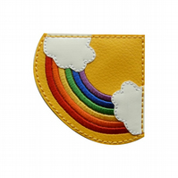 Sunshine & Rainbows - Embroidered Corner Bookmark