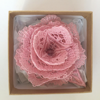 Rose Brooch - Lace Rose Brooch - Roses - Rose Corsage