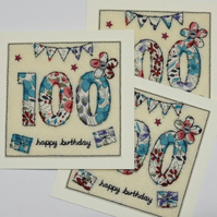 100th - Age 100 Birthday Card - Centenary Card - 100th Birthday Card