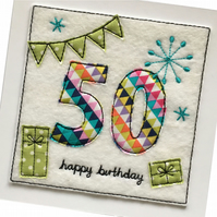 50th Card - Age 50 Birthday Card - 50th Birthday Card - Age 45 to 54 Cards