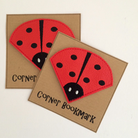 Ladybird Bookmark - Red Corner Bookmark - Ladybird Gift - Ladybirds
