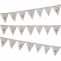 Baby Name Bunting - Gingham Bunting - Nursery Gift Bunting - New Baby Bunting