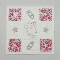 New Baby Card - Baby Shower Card - New Baby Congratulations Card - Pink