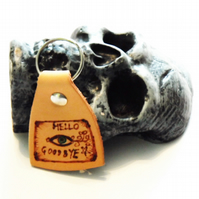 Ouija leather keyring