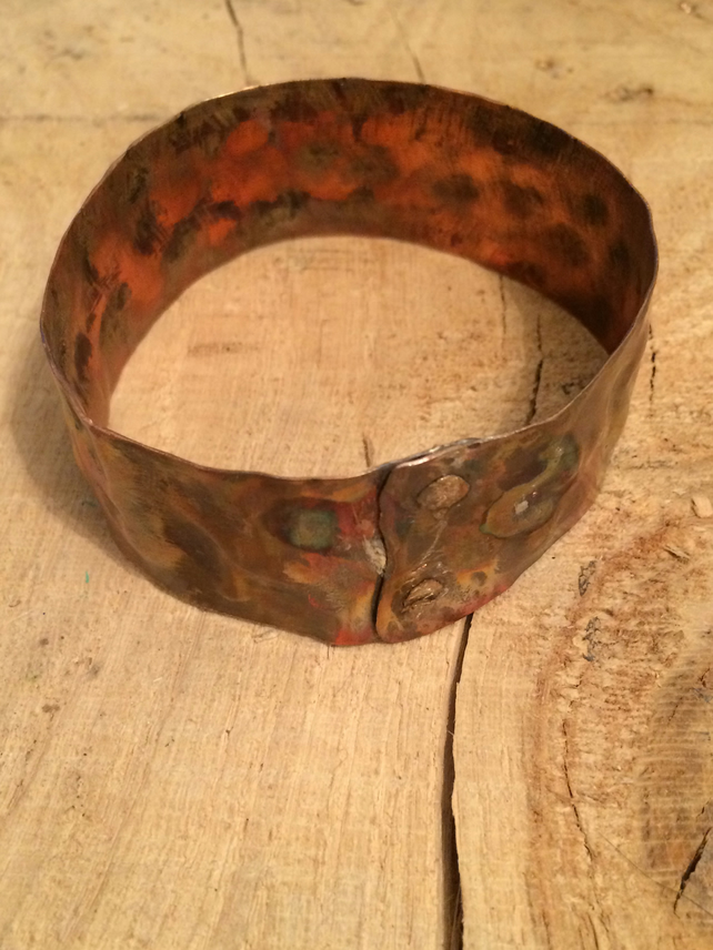 Thick copper bangle