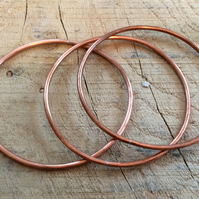 Three Copper Bangles