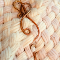 Copper Shawl Pin