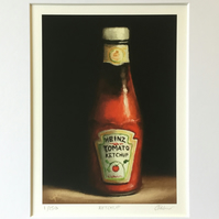 Ketchup, signed limited edition print from original painting