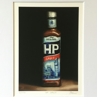 HP Brown sauce, signed limited edition print from original painting