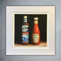 Heinz and HP, signed limited edition print from original painting
