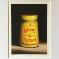 Mustard, signed limited edition print from original painting