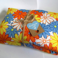 Handmade Wheat Lavender Microwave Heat Chill Bags  Extra Long 70's Retro Design