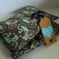 Handmade Flax Linseed and Lavender Microwave Heat Chill Bags - Biker Bliss