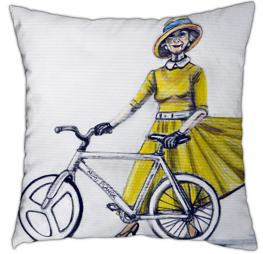 Lady in Yellow - Cushion 40cm x 40cm