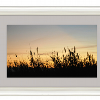 Dune - Silver framed and grey mounted photograph - 60cm x 40cm