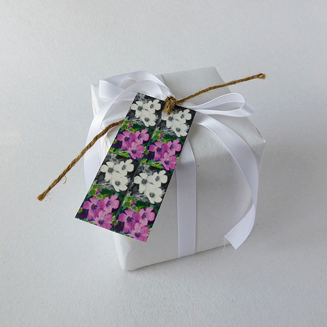 Gift tags, flower design