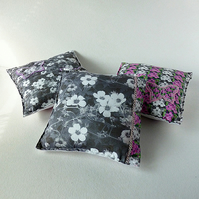 Decorative cushion - Appliqued mini  cushion with Flowers and Butterflies Design