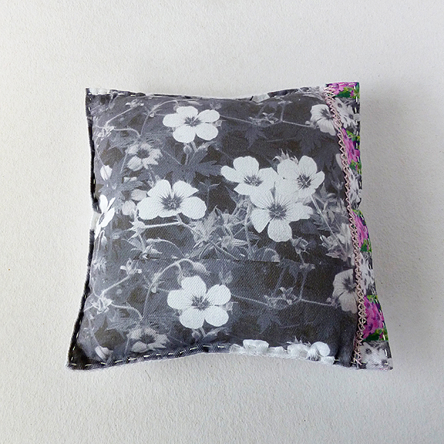 Mini Cushion, decorative, flowers and butterflies