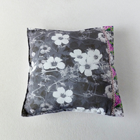 Cushion - mini - flowers and butterflies