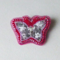 Butterfly brooch pin - fabric jewellery - Harriet