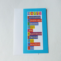 Fathers Day Card - Blue