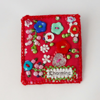 Charming Brooch pin, flower garden