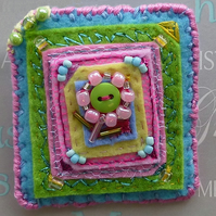 Brooch, flower design, spring colours