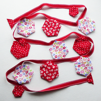 Bunting - Red, white and floral