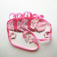 Bunting - pink patchwork style