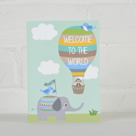 Welcome to the World - New Baby Card