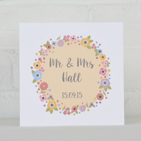 Love Sign - Personalised Wedding Card