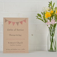 Bunting - Order of Service