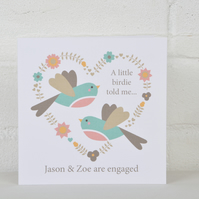 Love Birds - Engagement or Wedding Card