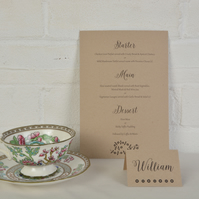 Vintage - Bespoke Wedding Menus