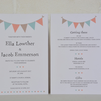 Bunting - Wedding Invitation Set