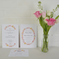 Love Sign Wedding Invitations Set with RSVP