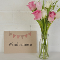 Bunting Table Name or Number Signs