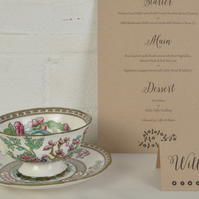 Vintage Wedding Table Place Cards