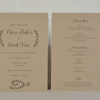 Vintage Wedding Invitation Set with RSVP