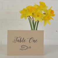 Vintage Table Number or Name Sign