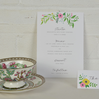 Wedding Place Cards - Floral