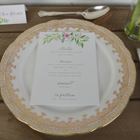 Wedding Menus - Floral